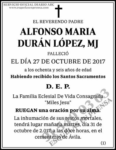 Alfonso María Durán López